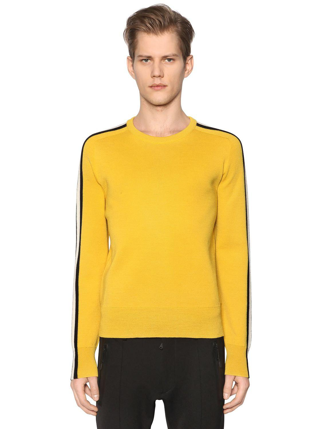 Lyst - DSquared² Wool Knit Sweater W  Contrasting Stripes in Yellow ... c6b597ca8
