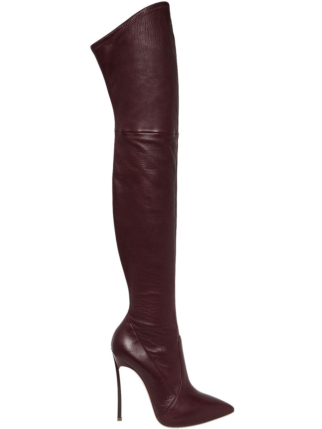Casadei 120MM BLADE SUEDE OVER THE KNEE BOOTS qaZav