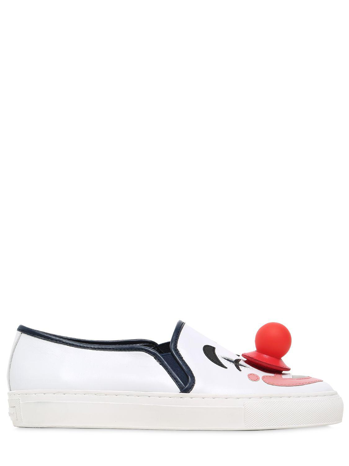 katy perry 20mm lucille clown leather sneakers lyst
