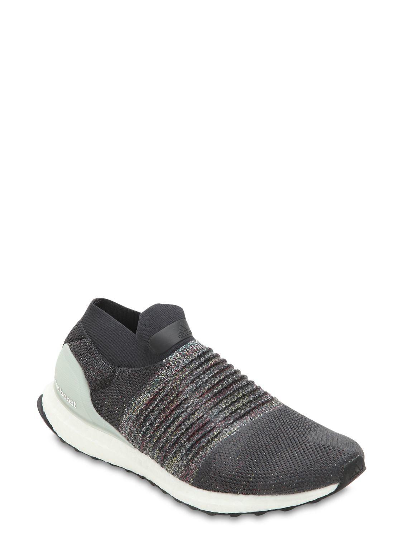 2e1ac224b12546 Adidas Originals - Gray Schnürlose Sneakers Aus Primeknit