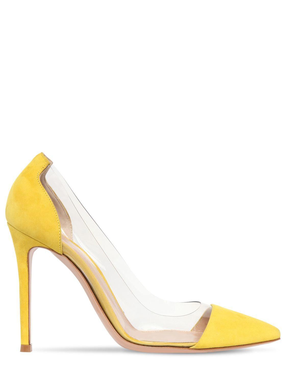 d396227997f Gianvito Rossi. Women s Yellow Plexi Court Shoes 105