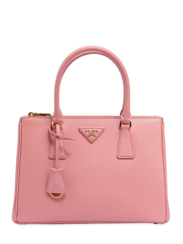 f1e66405982e Prada - Pink Medium Galleria Saffiano Leather Bag - Lyst. View fullscreen
