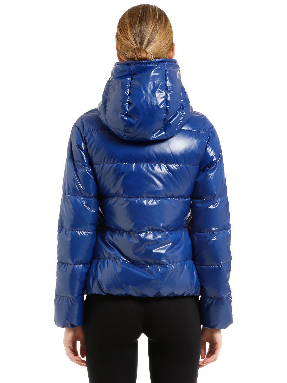 Lyst Duvetica Thia 5 Shiny Nylon Down Jacket In Blue