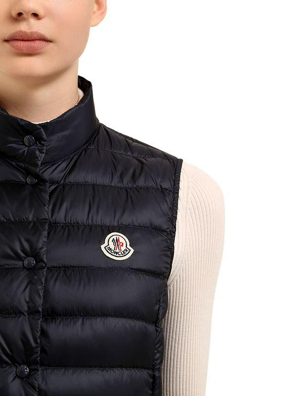 201466c38 Moncler Liane Quilted Nylon Down Vest in Blue - Save 5% - Lyst