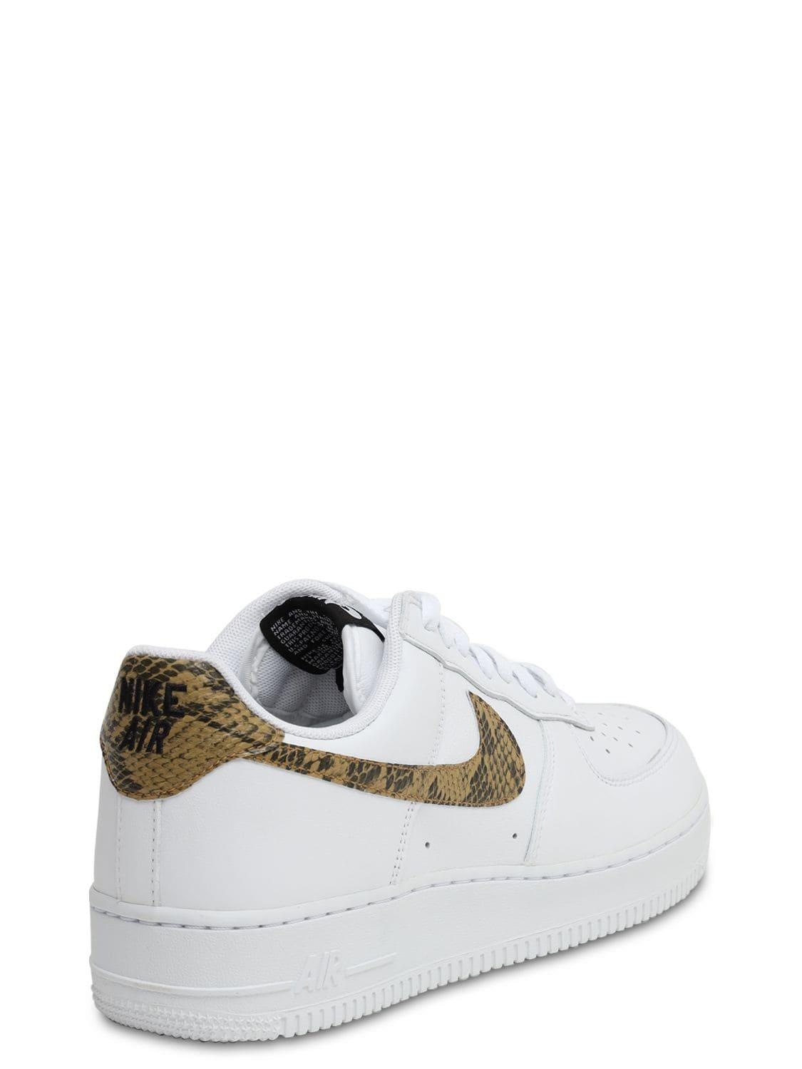 01080bbad78 Nike - White Air Force 1 Low Retro Prm Qs Sneakers for Men - Lyst. View  fullscreen