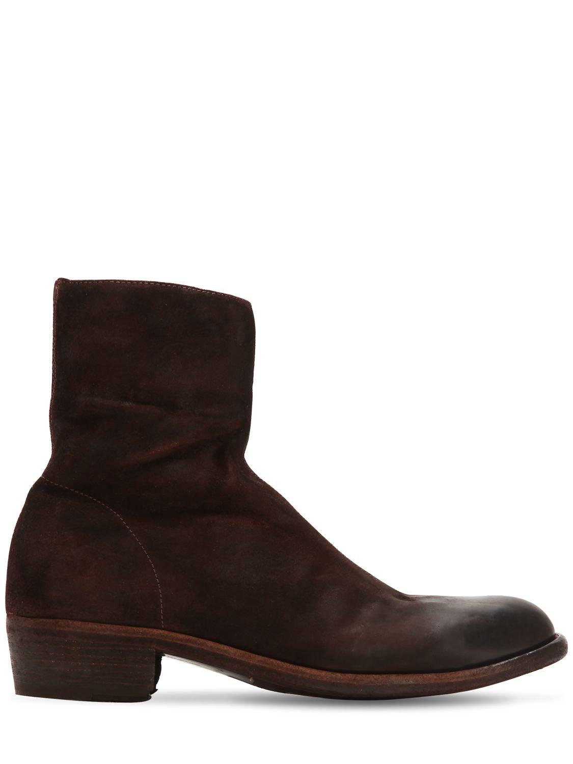 cd8d927d2d2b5 Lyst - Officine Creative Ponti 001 Reversed Leather Boots in Brown ...