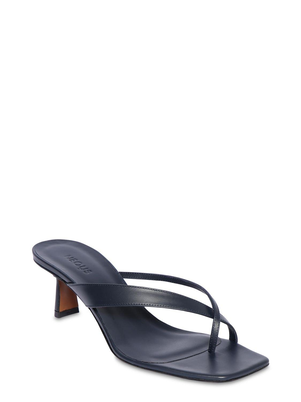 Sandales En Cuir 55 Mm Neous en coloris Bleu