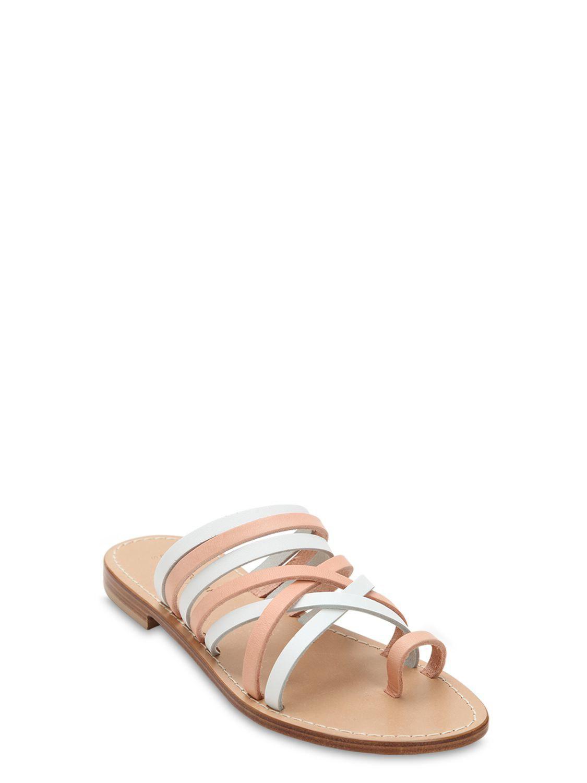 27a1928cadac Capri Positano - Multicolor 10mm Ieranto Leather Sandals - Lyst. View  fullscreen
