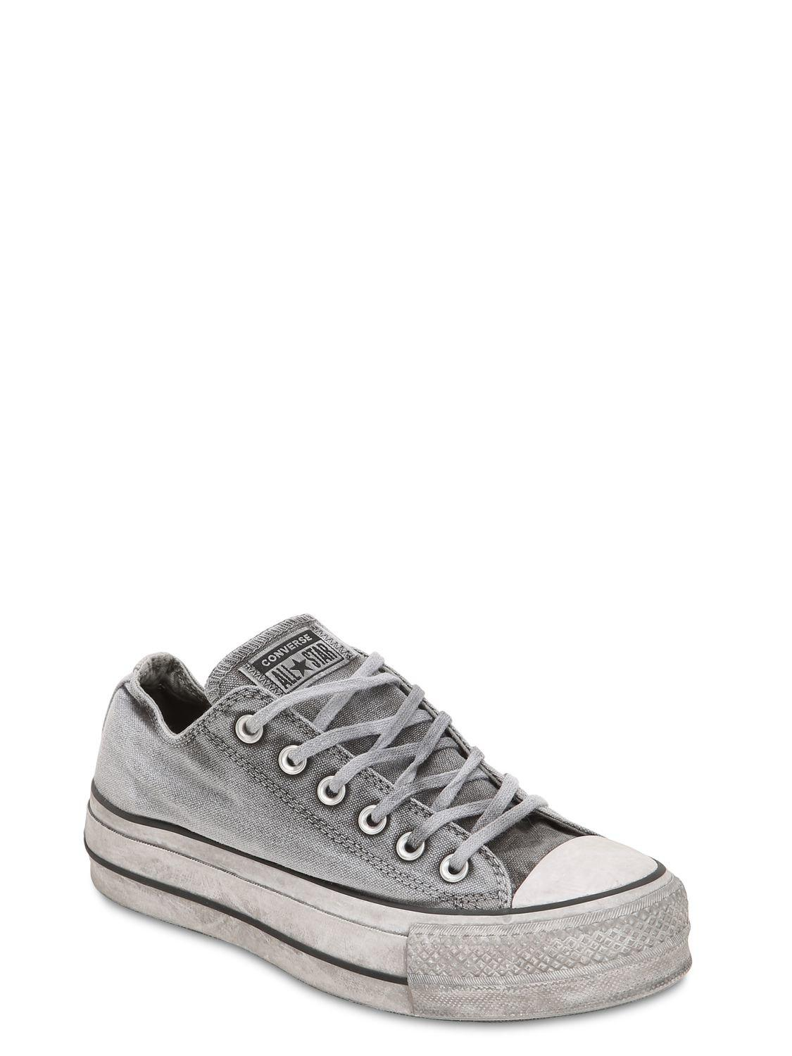 6bf836f18de2f Converse Chuck Taylor Ox Lift Canvas Sneakers in Gray - Lyst