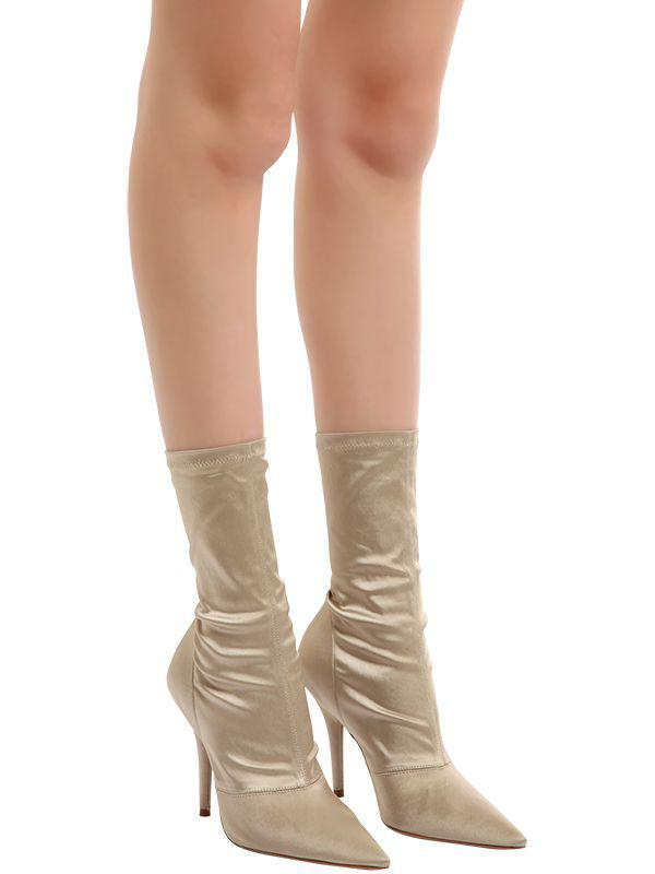Yeezy 110mm Stretch Satin Sock Ankle Boots Lyst