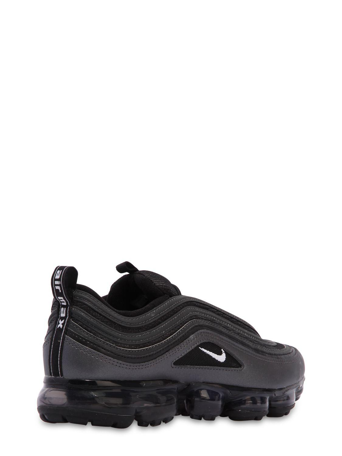 Nike Leather Air Vapormax 97 Sneakers in Black for Men - Lyst
