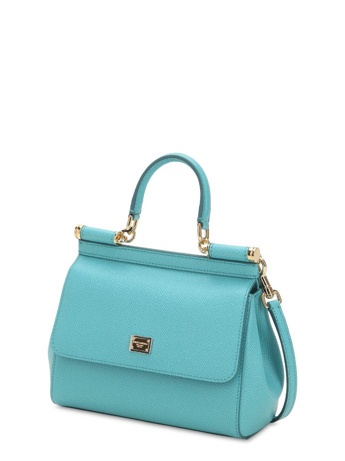 Dolce   Gabbana - Blue Small Sicily Dauphine Leather Bag - Lyst. View  fullscreen 028e9863ad
