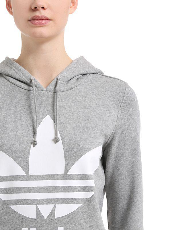 Sweat-shirt oversize avec trèfle - Gris Caoutchouc adidas Originals en coloris Gris - 46 % de réduction