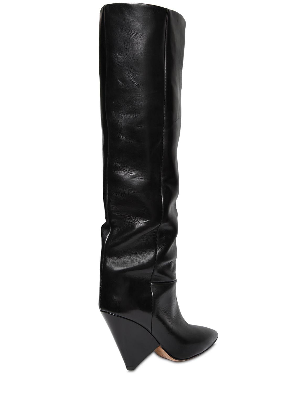 Isabel Marant 90mm Lokyo Leather Boots in Black