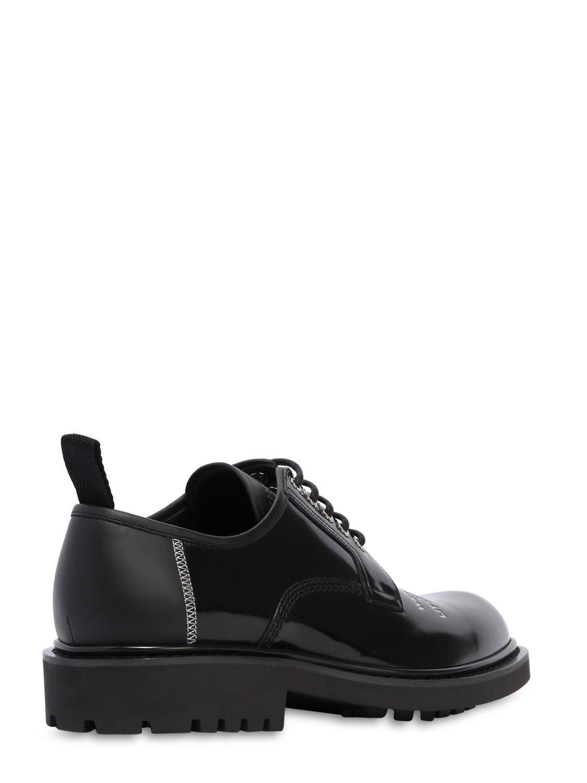 Homme Black Derby Dior Imprimé Chaussures Coloris En Cuir Pour J3Tul1FKc