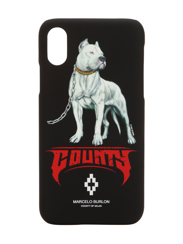 Dog Iphone X Cover Blk/multi - Black