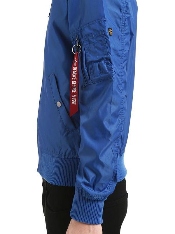 Alpha Industries Synthetic Ma-1 Tt Slim Fit Nylon Bomber Jacket in Blue for Men
