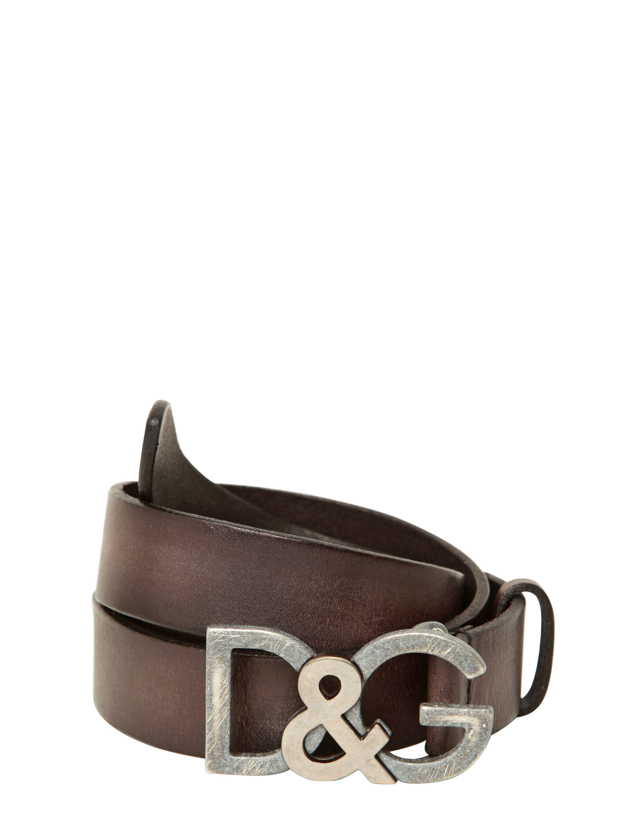 ee0b83ee1e promo code for lyst dolce gabbana 30 mm dg buckle leather belt in brown for  men