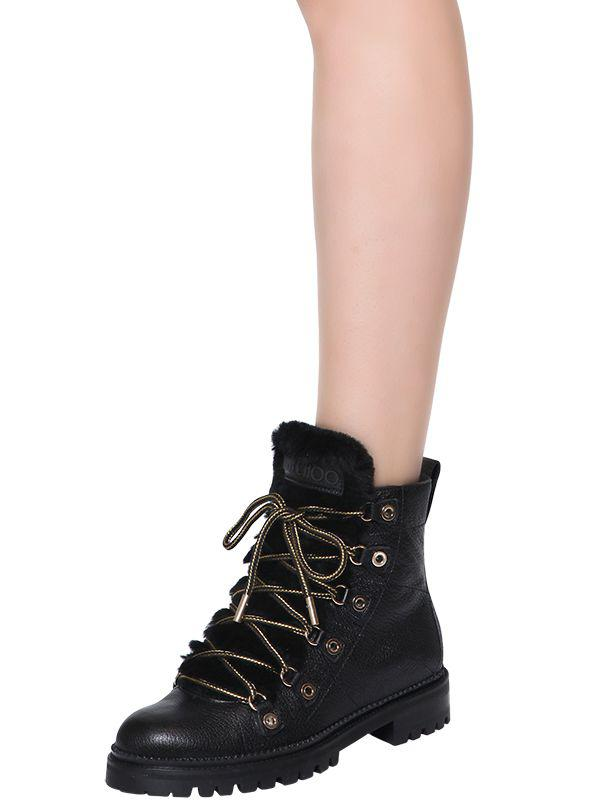 2ac694ea9176 Jimmy Choo - Black 30mm Hilary Shearling   Leather Boots - Lyst. View  fullscreen
