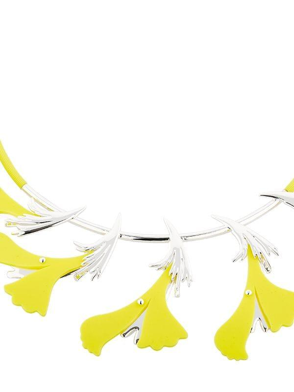 EK Thongprasert Silicone Flower Necklace in Yellow,Silver (Metallic)