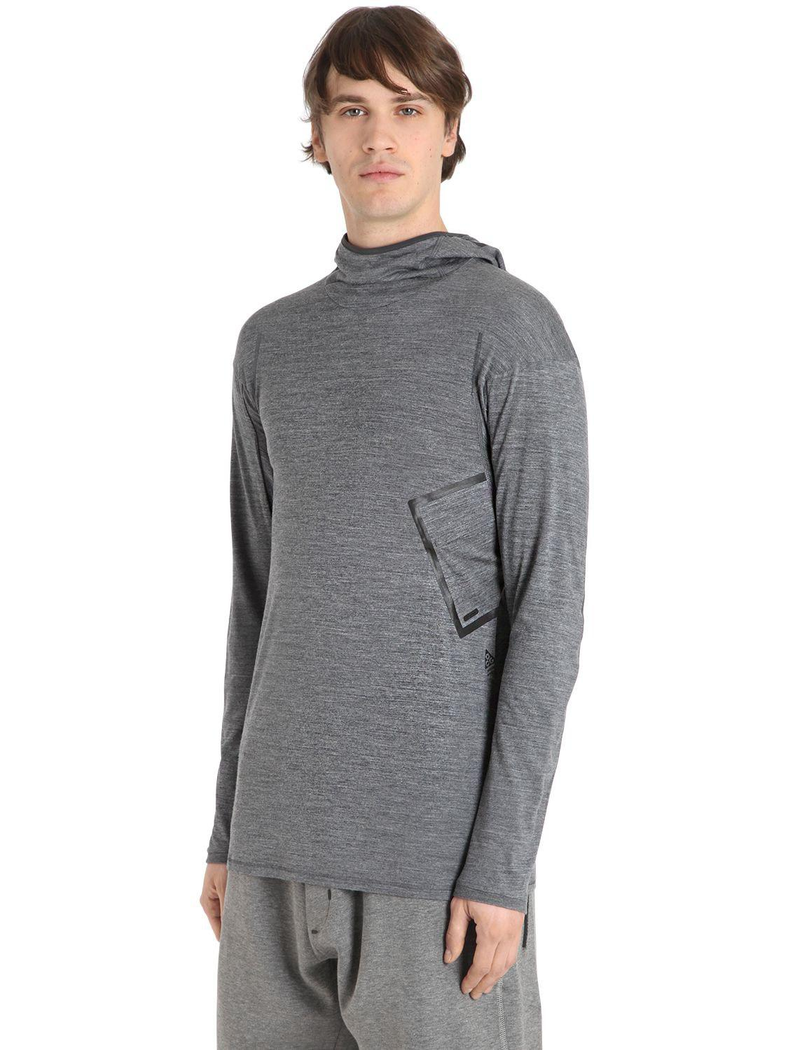 8e0e40ca0 Nike Nikelab Acg Inversion Wool Blend Top in Gray for Men - Lyst