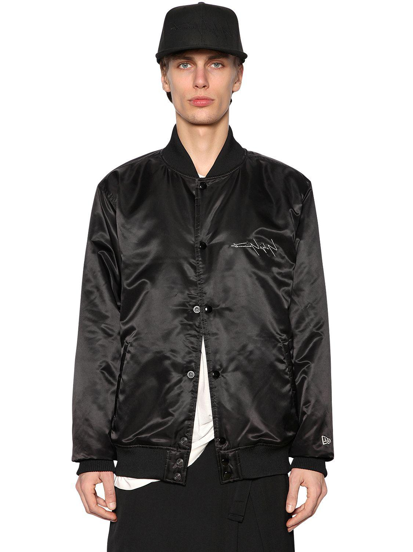 Yohji Yamamoto Synthetic New Era Printed Nylon Bomber Jacket in Black for Men