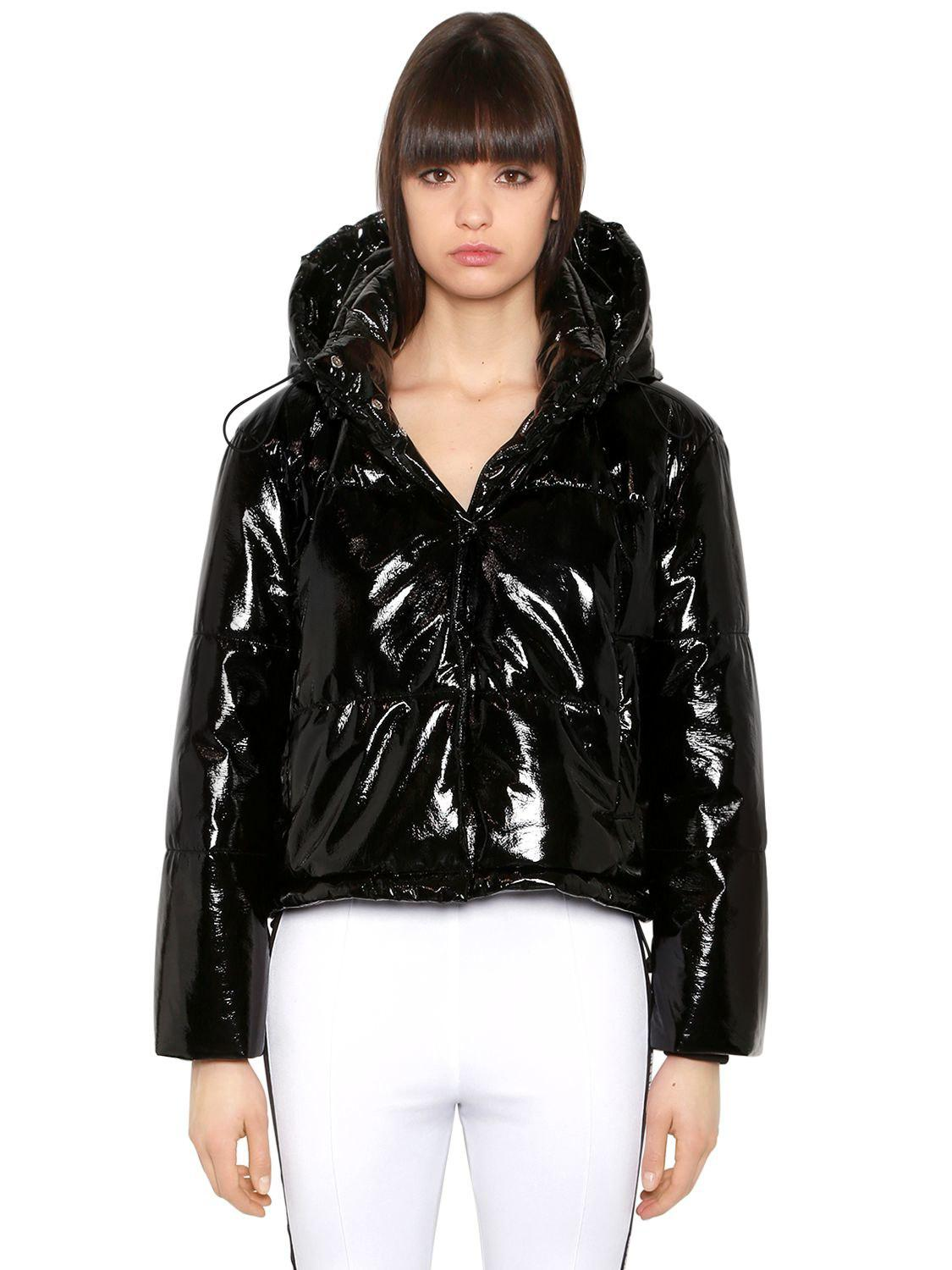 e64b5cb9d MSGM Quilted Vinyl Puffer Jacket in Black - Lyst