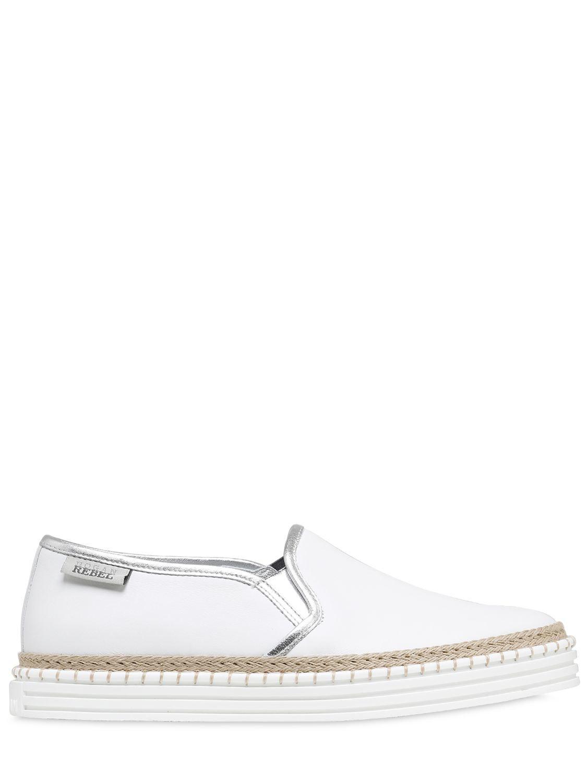 Hogan Slip-on Sneakers leather beige JQhbUX