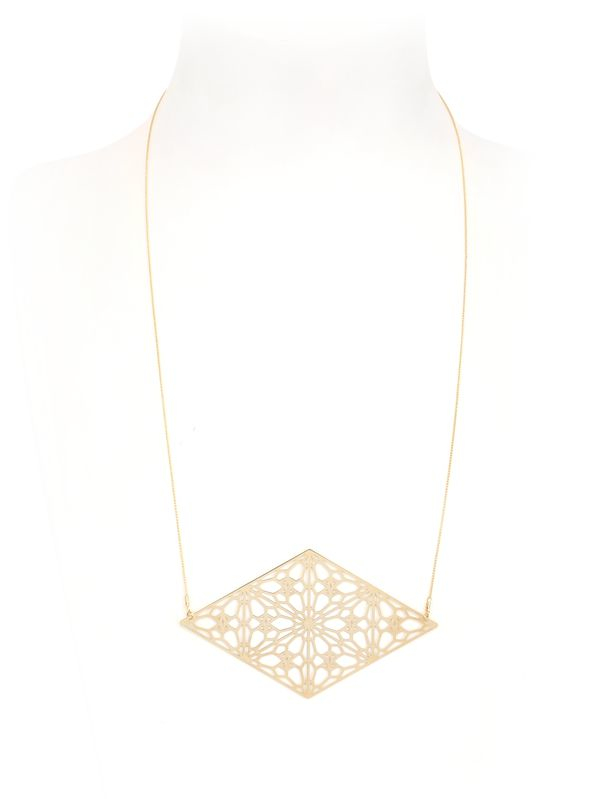 Lotocoho Alhambrs Diamond Shaped Necklace in Gold (Metallic)