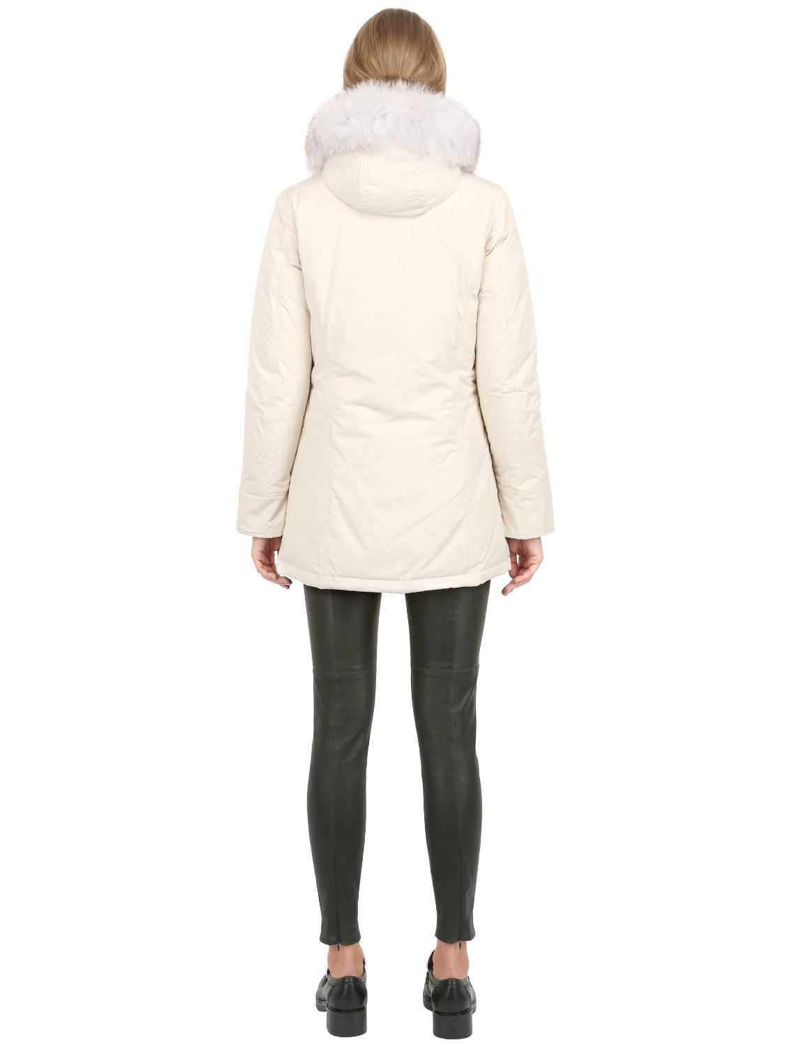 woolrich shape memory luxury arctic parka in white lyst. Black Bedroom Furniture Sets. Home Design Ideas