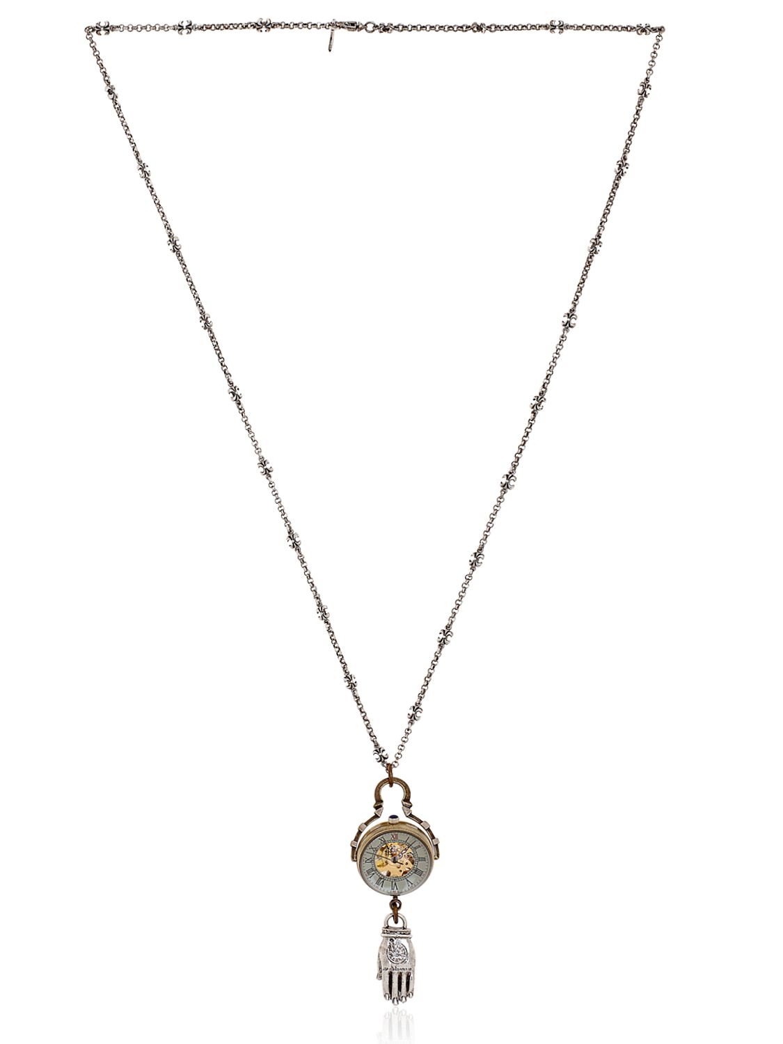 Cantini Mc Firenze Hand Of Budda Necklace in Bronze (Metallic) for Men