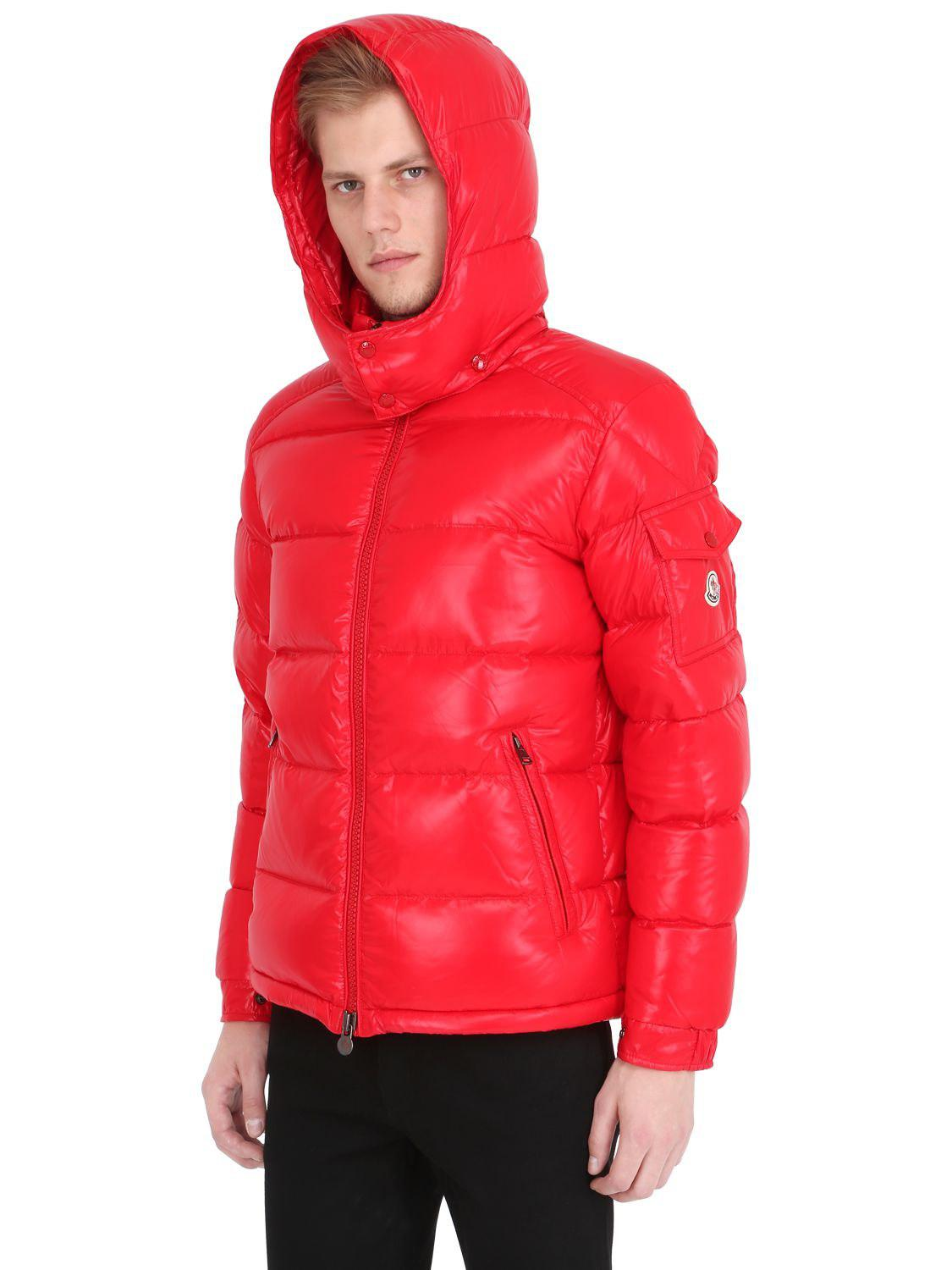 5e46ab789 Moncler Maya Nylon Laqué Down Jacket in Red for Men - Lyst
