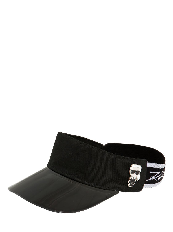 Visera K/Ikonik Karl Lagerfeld de Algodón de color Negro   Lyst
