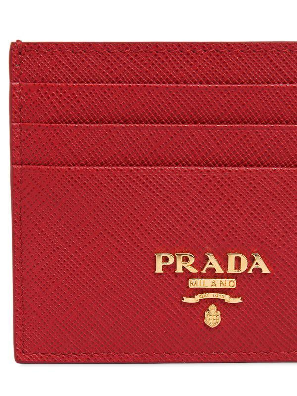60fd8bcf6061 ... wholesale prada red saffiano leather card holder lyst. view fullscreen  ac49b 27b7c