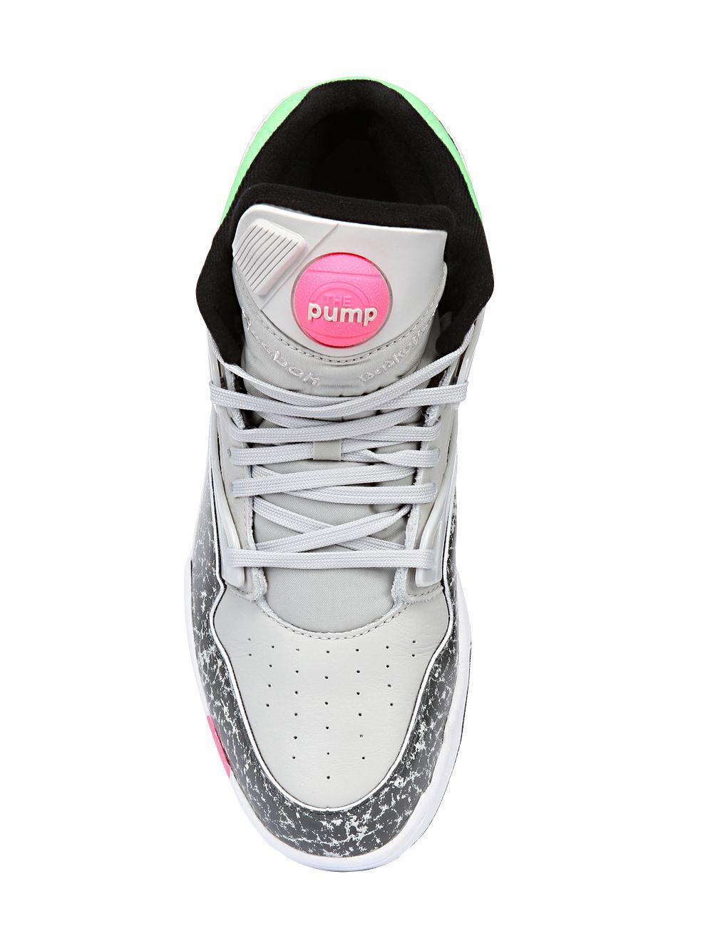 Reebok Pump Omni Lite Leather High Top Sneakers