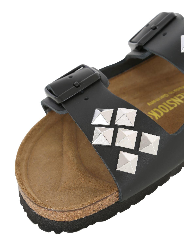 b41162da3e9 Lyst - Birkenstock Arizona Soft Footbed Leather Sandal in Black