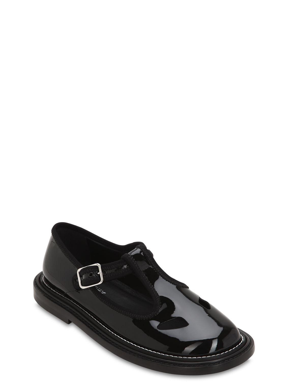 """Zapatos Planos """"Alannis"""" De Charol 20Mm Burberry de Cuero de color Negro"""