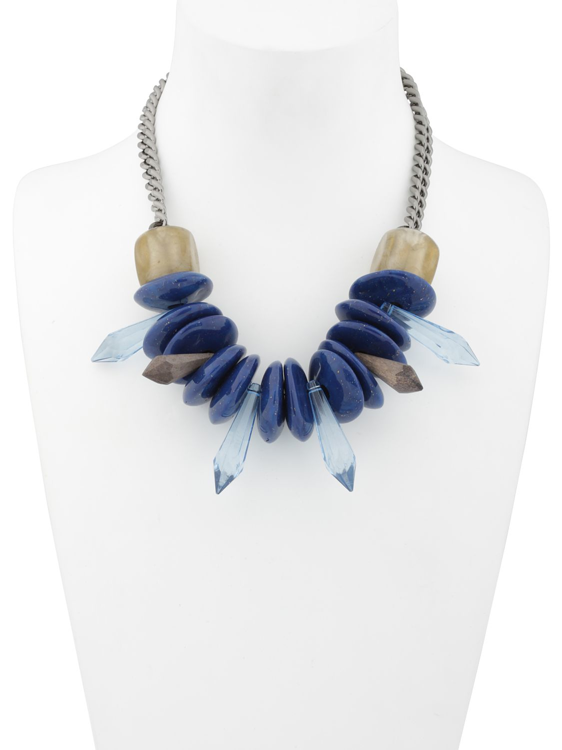Ortys Stone Necklace in Blue/Beige (Blue)