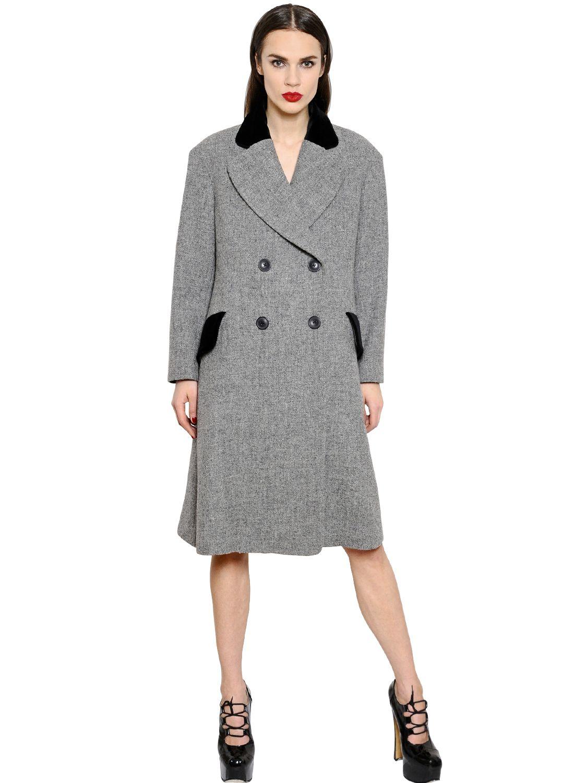 826a87ab7 Vivienne Westwood Gray Oversized Wool Harris Tweed Coat