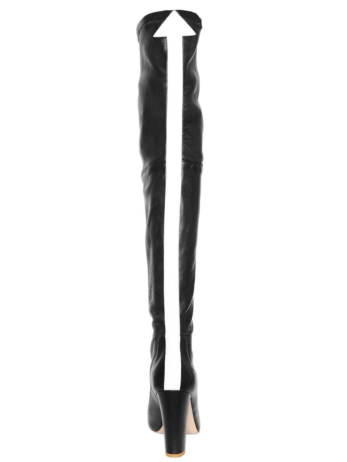 Camilla Elphick 105mm This Is The Limit Leather Boots in Black/White (Black)