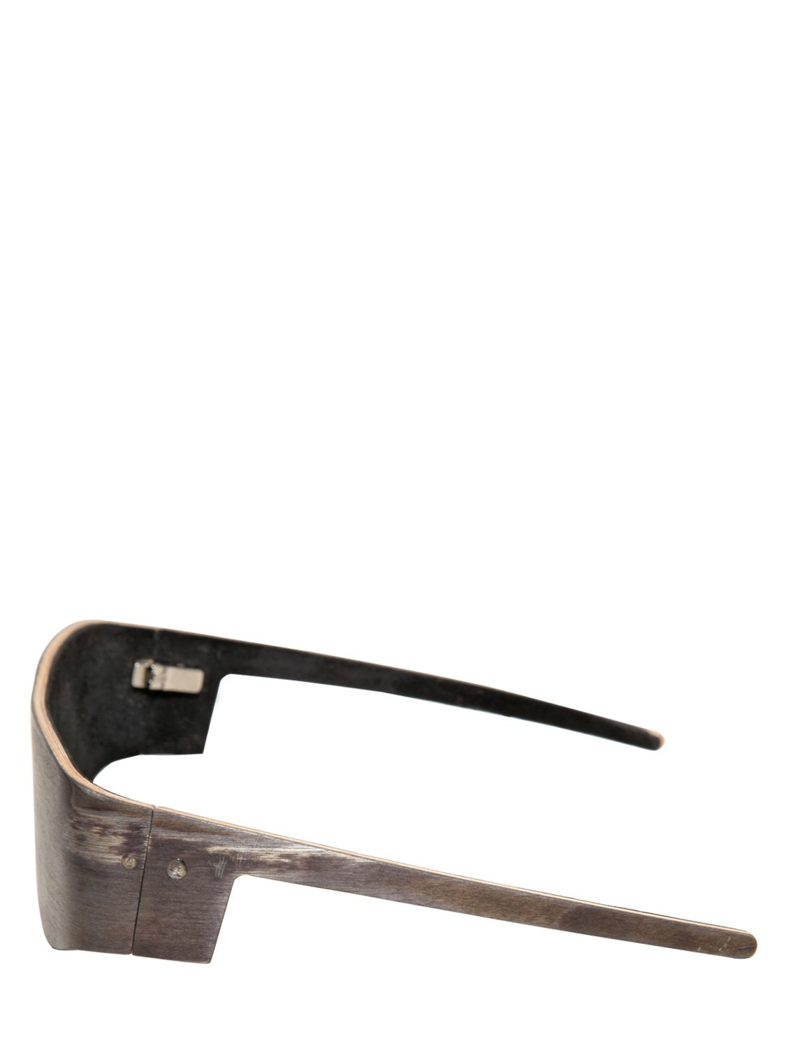 Gtie Leather Wooden Sunglasses in Black (Brown) for Men