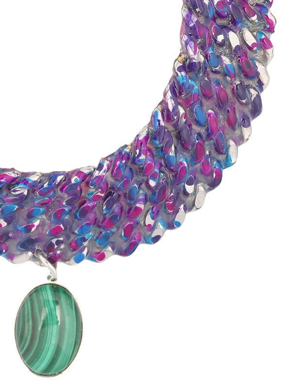 Gemma Redux Color Bleed Necklace in Silver/Blue (Metallic)