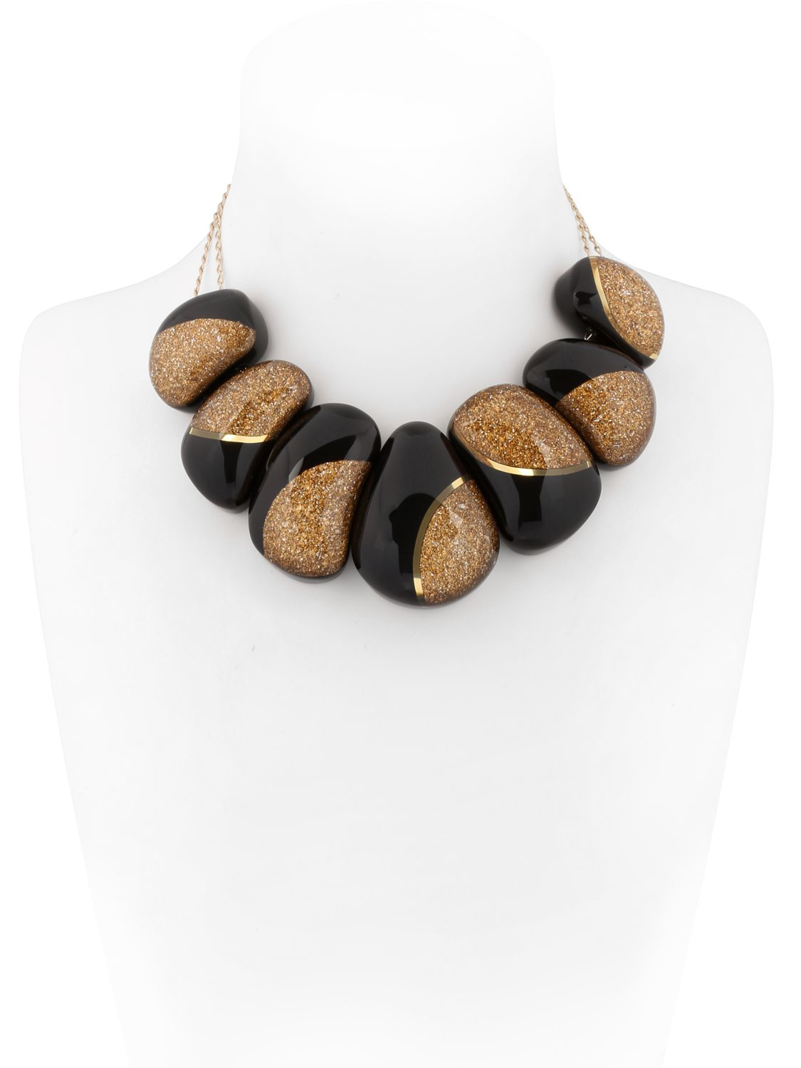 Arkimia Delphine Necklace in Black/Gold (Brown)