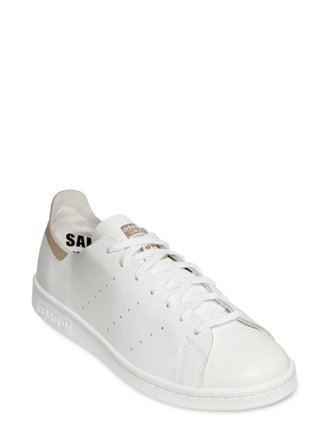 adidas Originals Stan Smith Laser-Cut Leather Sneakers in White ...