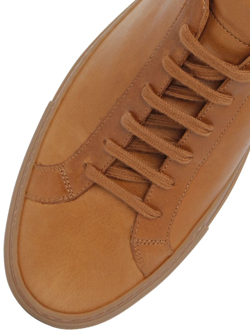 common projects 39 original achilles 39 leather sneakers in brown for men lyst. Black Bedroom Furniture Sets. Home Design Ideas