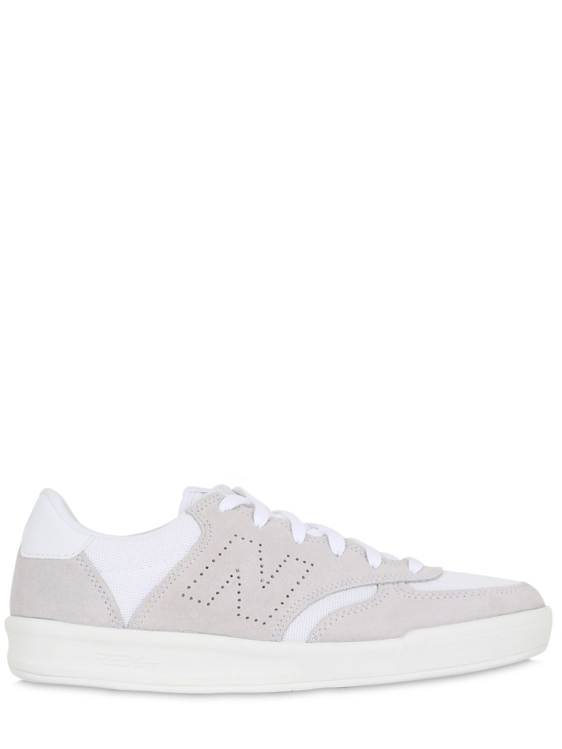 New Balance 300 Suede & Canvas Sneakers in White/Beige (White) for ...