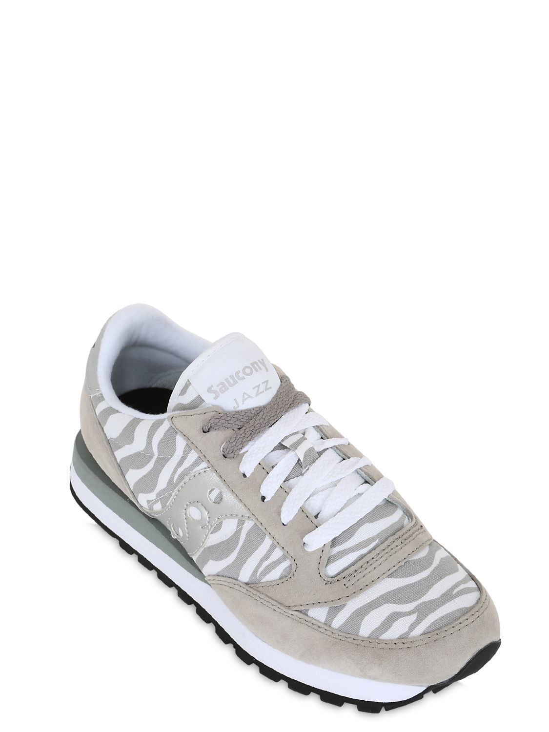 Saucony Jazz Safari Suede Limit.ed Sneakers in White/Grey (Grey)