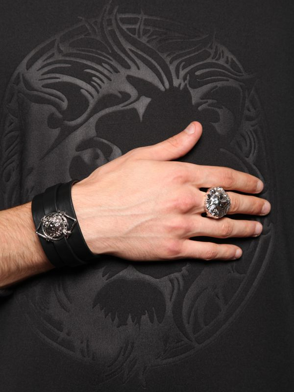 aed71dc401c Versus Silver Lion Head Ring - Image Of Lion and Antique Sgimage.Co