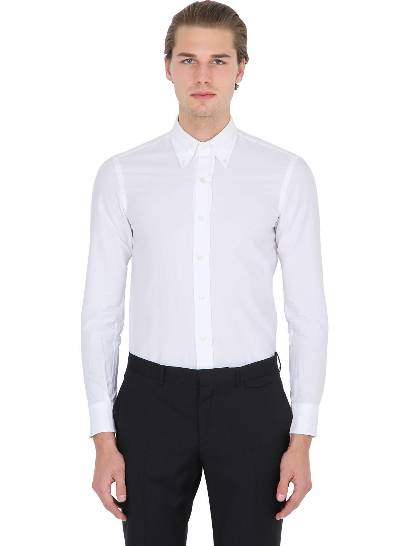 Salvatore piccolo slim fit button down oxford shirt in for White button down oxford shirt