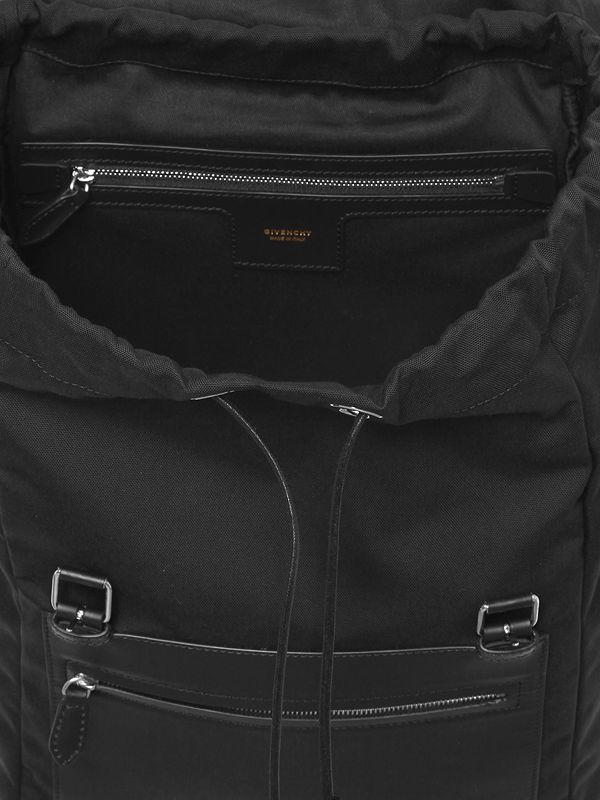 Givenchy Synthetic Nylon Blend & Leather Backpack in Black for Men